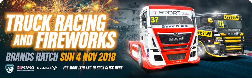 Truck Racing and Fireworks - Brands Hatch